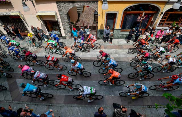 View of Giro d'Italia riders