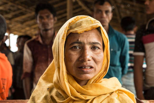 Fatema, 35, a Rohingya refugee from Burma who fled to a refugee camp after escaping when the military started firing at people in her village.