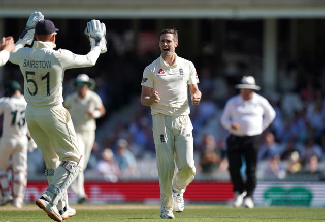 Chris Woakes in England whites last summer.