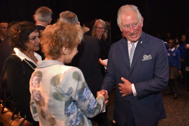 The Prince of Wales with Meera Syal and Zoe Wanamaker