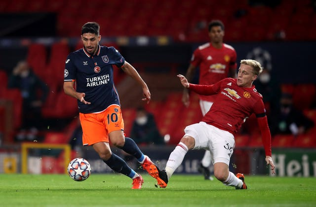 Donny van de Beek impressed in midfield for Manchester United