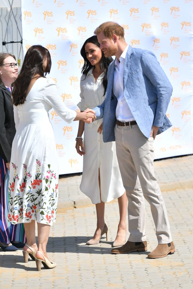 The Duke and Duchess of Sussex visit Tembisa township, near Johannesburg