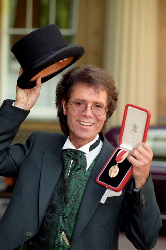 SIR CLIFF RICHARD AT BUCK HOUSE