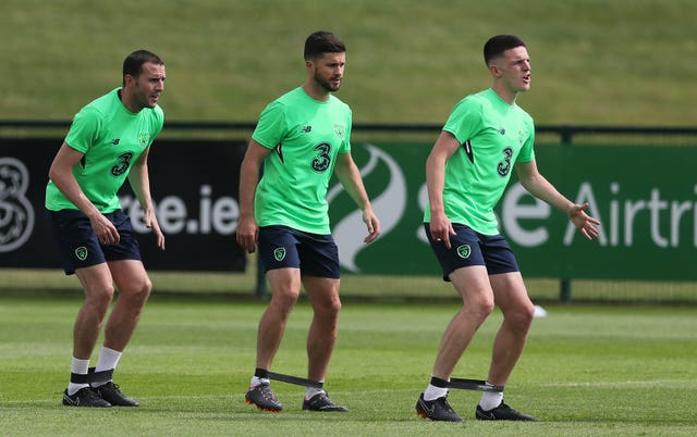 Declan Rice (right) won three senior caps for Ireland before accepting England's call