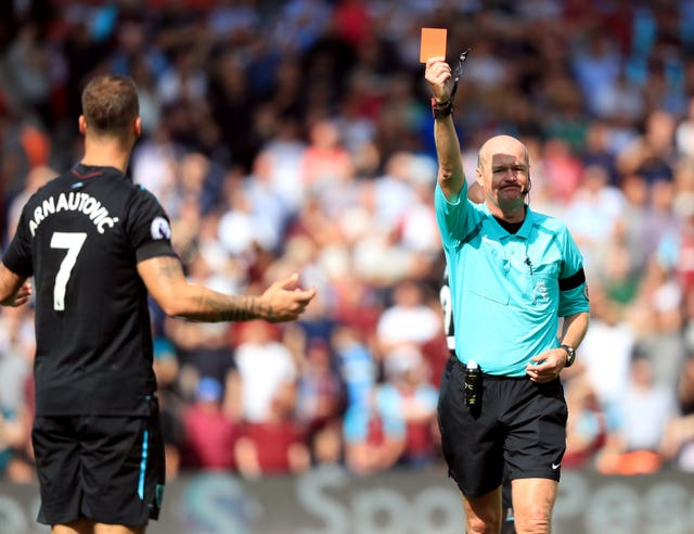 Arnautovic was sent off in just his second West Ham appearance