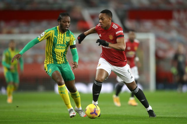Anthony Martial, right, was denied on two occasions by Sam Johnstone