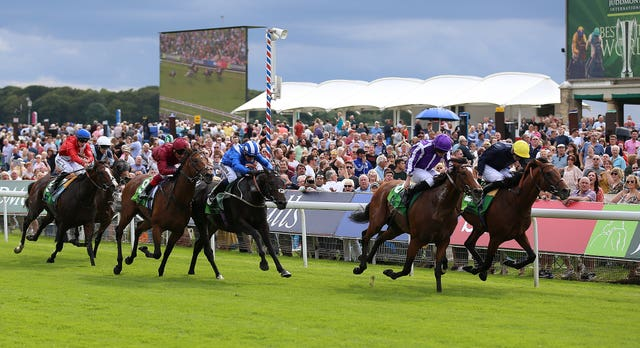 Japan got the better of Crystal Ocean (far side) in the Juddmonte International last year