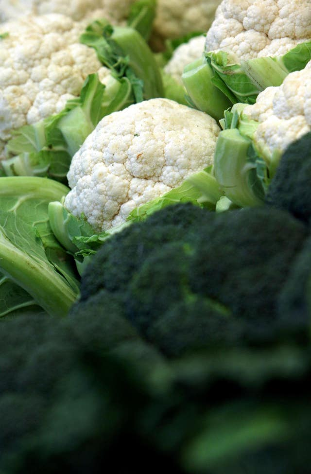 UK cauliflowers have issues (Chris Radburn/PA)