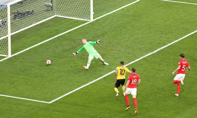 Eden Hazard hit Belgium's second goal in their third-placed play-off win over England in Russia.