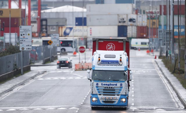 Trucks at Dublin port