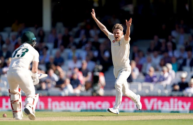 England's Sam Curran took three wickets during a memorable afternoon