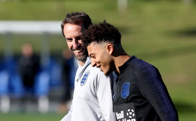 Gareth Southgate gave Jadon Sancho his England debut at the age of 18 - the second youngest England player to win his first cap in a competitive game