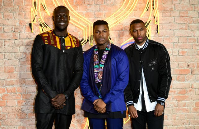 Stormzy, John Boyega and Daniel Sturridge were among the other attendees of the premiere (Ian West/PA)