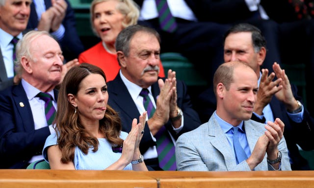 The Duchess and Duke of Cambridge were at Centre Court