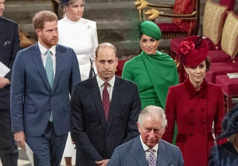 EMBARGOED TO 0001 FRIDAY SEPTEMBER 25 File photo dated 09/03/20 of the Duke and Duchess of Sussex, the Duke and Duchess of Cambridge with the Prince of Wales during the Commonwealth Service at Westminster Abbey, London on Commonwealth Day. Funding for the Sussexes and the Cambridges contributed to a £5.6 million bill for the Prince of Wales in Harry and MeghanÕs final year as senior royals, accounts show. The accounts run from April 2019 to the end of March 2020 Ð just after the UK went into lockdown and Charles contracted coronavirus.