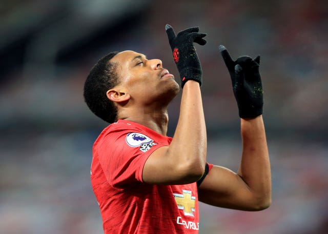Anthony Martial opened the scoring at Old Trafford