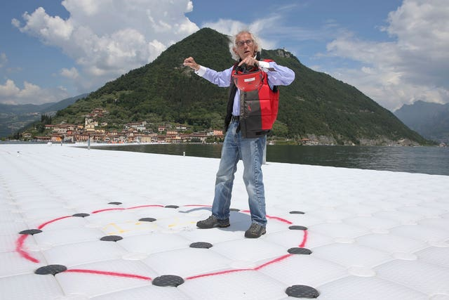 Artist Christo Vladimirov Yavachev, known as Christo, in northern Italy