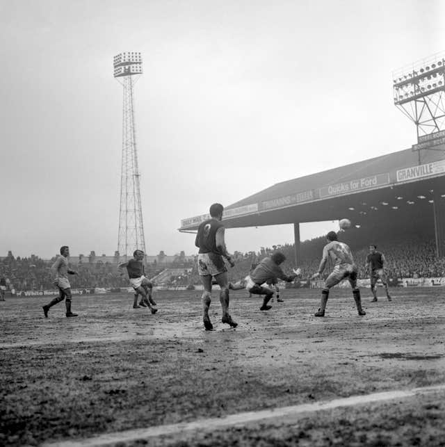 Jimmy Greaves scores his second goal during an impressive debut for West Ham in 1970