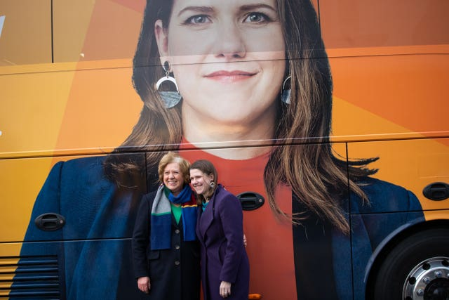 Jo Swinson and mother Annette