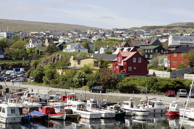 The town of Torshavn, the capital of the Faroes
