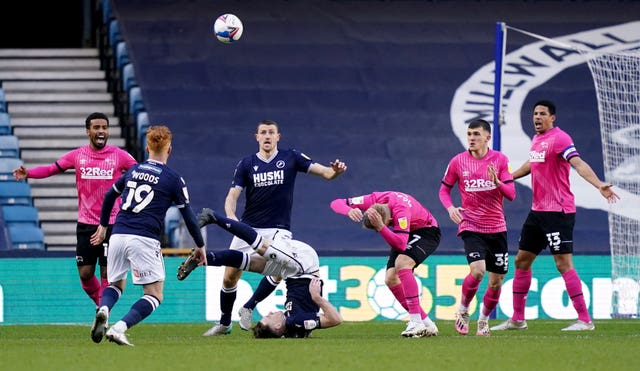 Derby were the visitors at Millwall