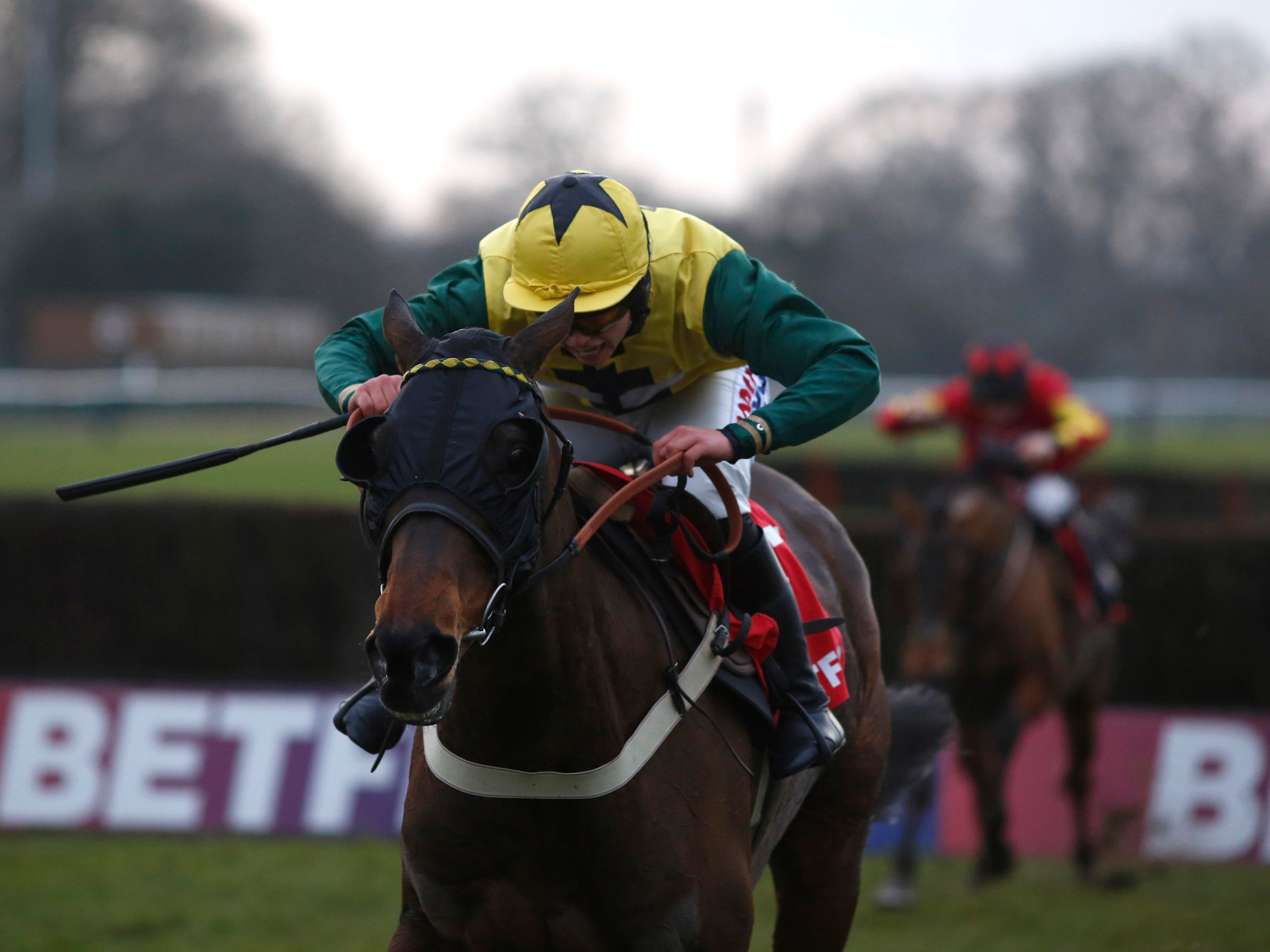 Milansbar on his way to winning last year's Classic Chase (Julian Herbert/PA)