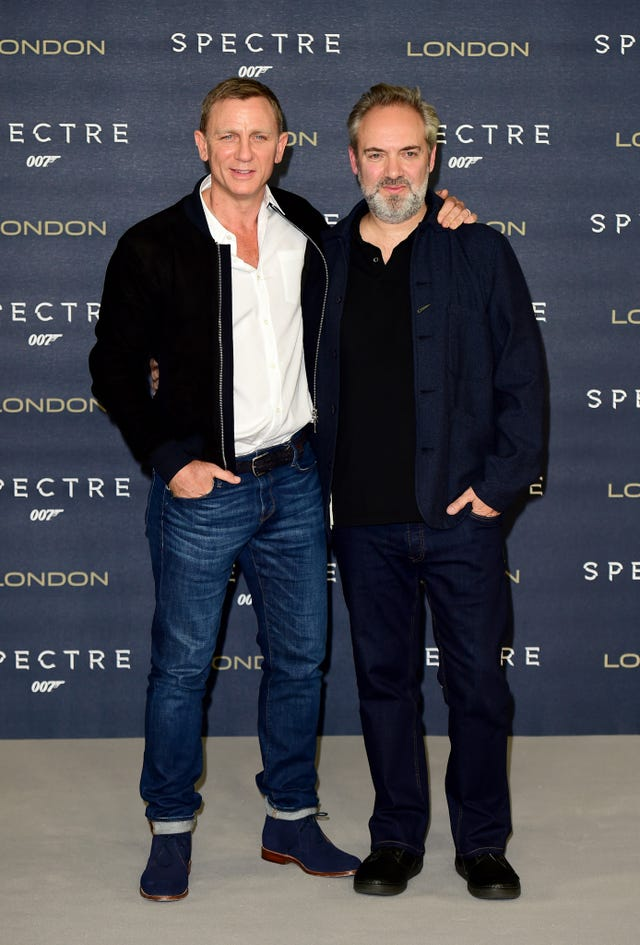Daniel Craig and Sam Mendes attending the Spectre photocall