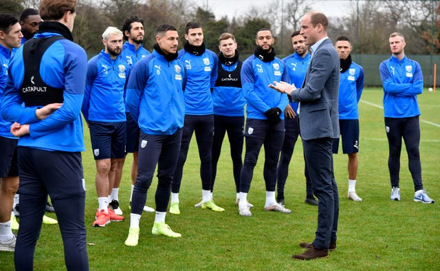 Duke of Cambridge visits West Brom FC