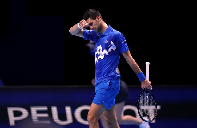 Novak Djokovic was feeling the pressure during a tense match
