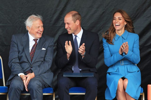 William, Kate, Sir David Attenborough