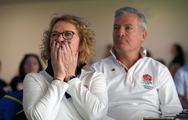 A tense moment at Sale Rugby Club