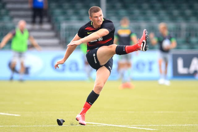 Owen Farrell kicked 10 points for Saracens in their 20-10 victory over Leinster in May, 2019