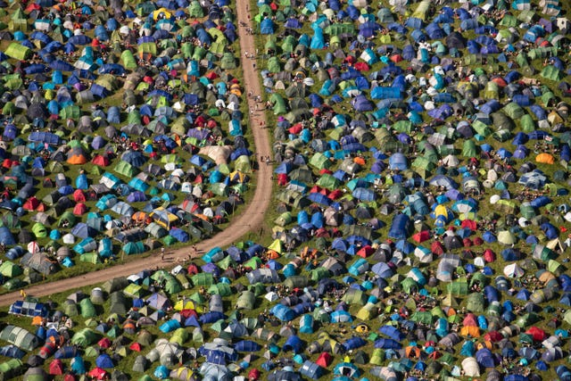 99% of Glastonbury tents taken home