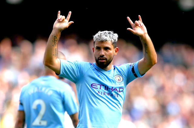 Sergio Aguero has scored 13 goals in all competitions this season