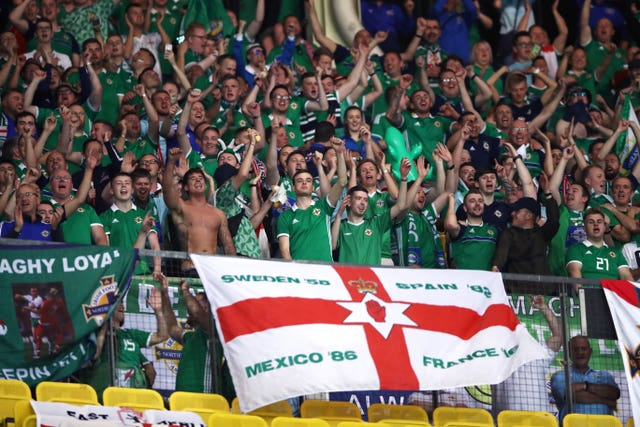 Northern Ireland were backed by a strong crowd but were unable to get the result