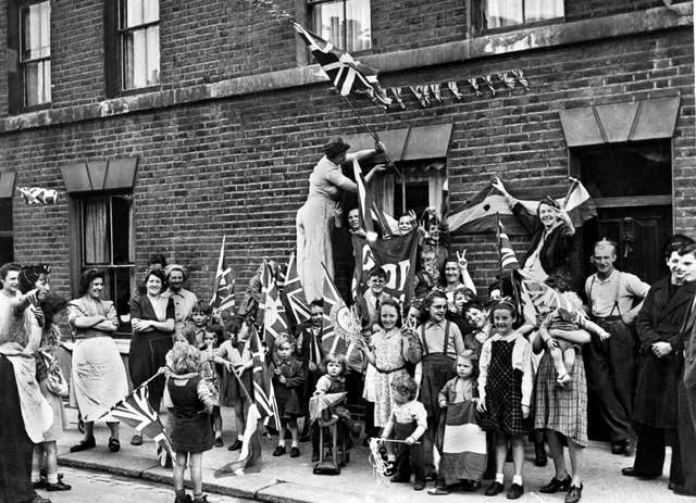 Spontaneous street parties were staged across the country to celebrate VE Day, PA Wire