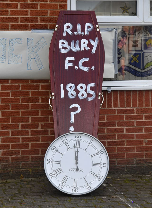 Bury were expelled from the football league in August