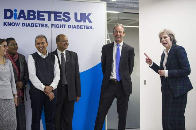 Prime Minister Theresa May opened new headquarters for Diabetes UK in east London