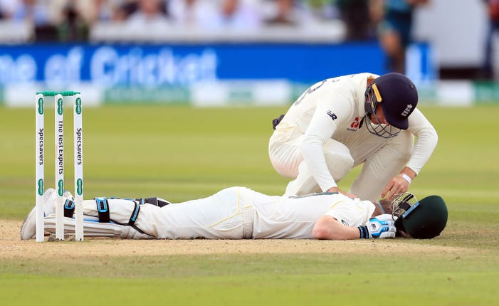 Smith suffered concussion after being struck by an Archer bouncer at Lord's