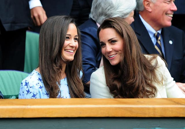 The Duchess of Cambridge and her sister Pippa (Adam Davy/PA)