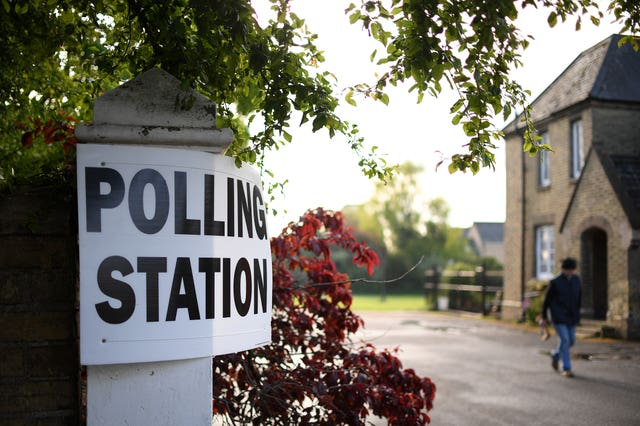 A polling station in Peterborough