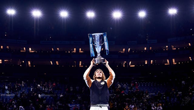 Stefanos Tsitsipas won the ATP Tour Finals last year