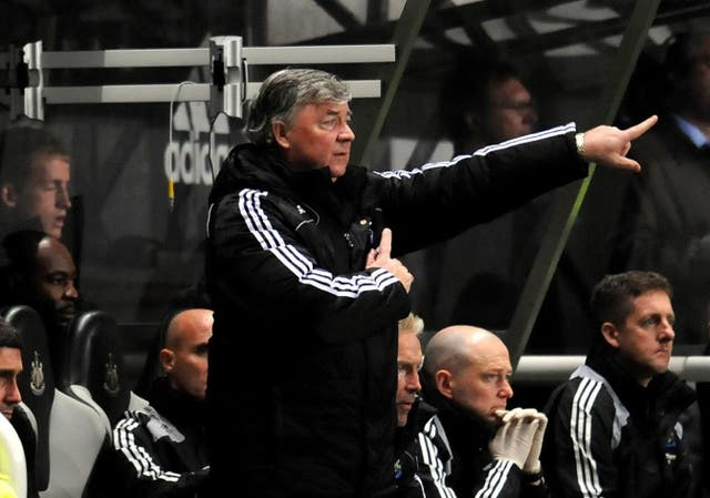 Interim Newcastle boss Joe Kinnear lost his cool with journalists