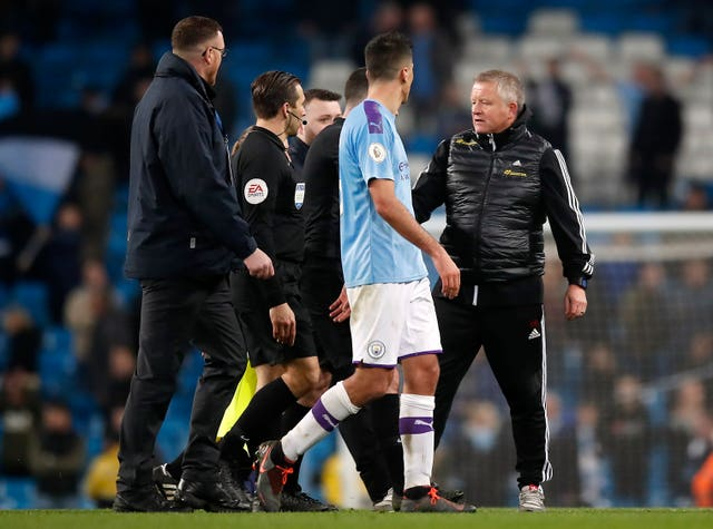 Chris Wilder was not happy with VAR's decision