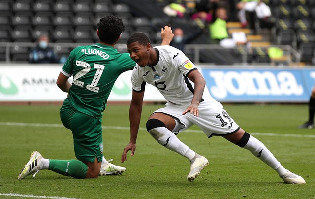 Rhian Brewster is averaging a goal every other game for Swansea
