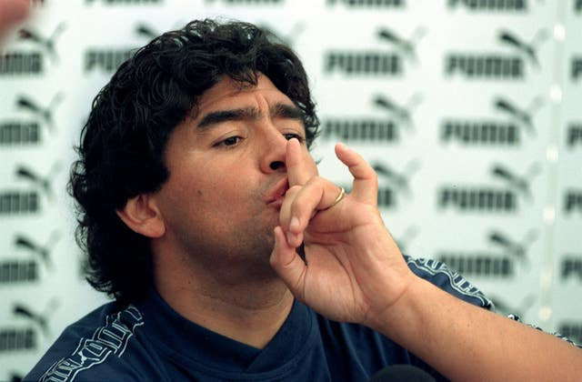 Maradona's participation in the 1994 World Cup ended prematurely due to a failed drugs test (Louisa Buller/PA).