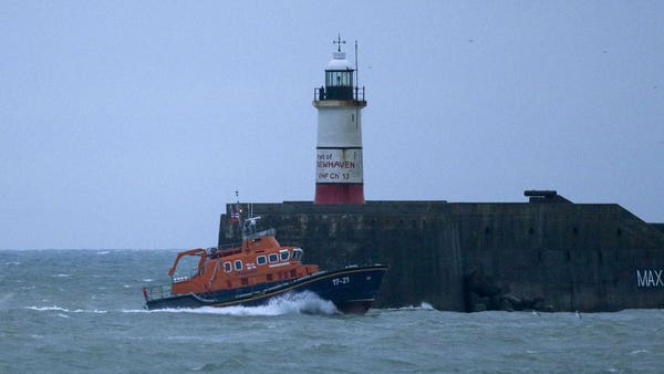 Man rescued and two missing after fishing boat sinks off coast of East Sussex