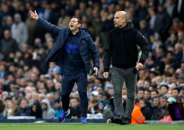 Frank Lampard (left) returned to Manchester City as manager of Chlelsea