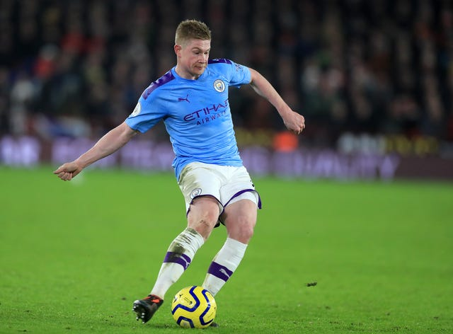 De Bruyne registered 20 Premier League assists last season (Mike Egerton/PA).