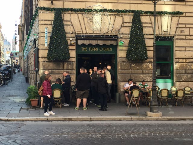 Celtic fans stabbed outside pub in Rome